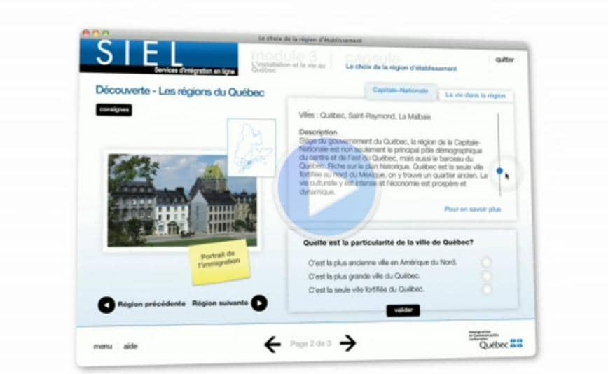 Le SIEL : Service d'intégration en ligne du Québec