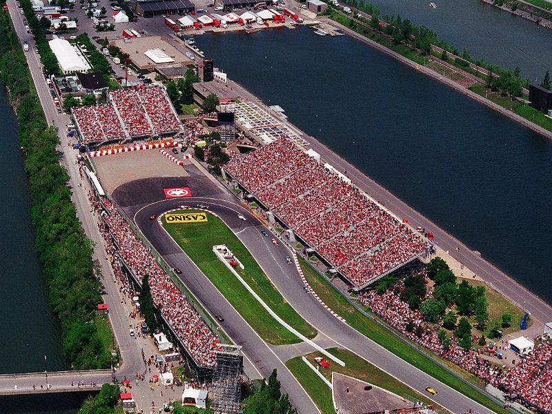 Circuit Montreal during the Grand Prix