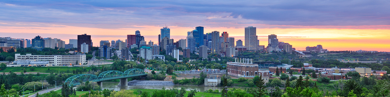 """Downtown"" Edmonton, Alberta."
